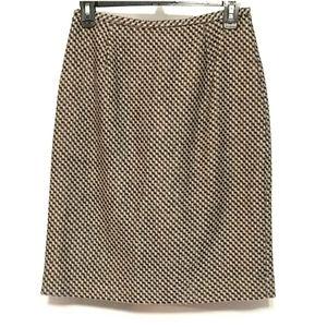 Ann Taylor 100% wool Lined tweed skirt sz 4